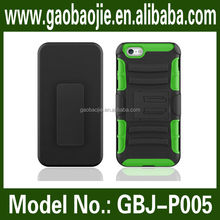 Top seller for apple iphone 6 case pc silicone rotating bracket case for apple cell phone case wholesale