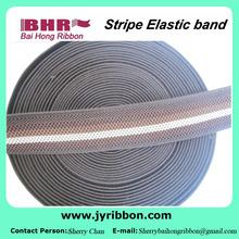 Suave de nylon y poliéster 38 mm ancho de banda elástica con el Color de strape línea