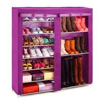 Dustproof non woven fabric shoe rack shoe organizing