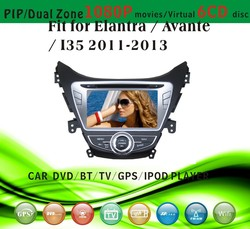 car dvd gps providers fit for Hyundai Elantra Avante I35 2011 - 2013 with radio bluetooth gps tv pip dual zone