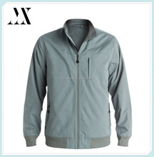 New Look Top Quality Mens Lighter Weight Peached Nylon/poly/cotton Blend Windbreaker Jacket with Polar Fleece Lining