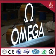 Custom Stainless steel LED backlit signs, Outdoors Illuminated Channel Letters