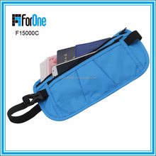 Travel passport running belt FRID money belt waist bag