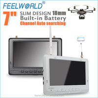 FEELWORLD personal helicopter kit 7 inch 5.8ghz wireless baby monitor 1.8cm thickness