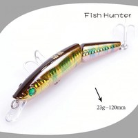 120mm 23g many sections minnow hard plastic fishing lure