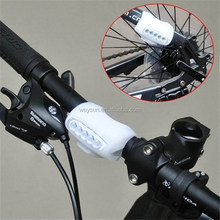 200pcs Bullfrog Bike Bicycle Cycling 7 LED Silicone Front Lamp Safety Warning Head Light 4Colors DHL Freeshipping