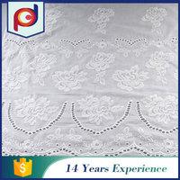 Dresses fabric supplier 2015 new Super Net 100% cotton embroideri fabric