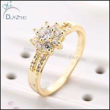 latest unique design brass CZ diamond ring