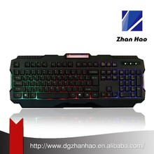 Waterproof illuminated backlit Game keyboard
