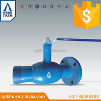 TKFM hot sale standard port handle lever operation welded&flange standard fully welded ball valve