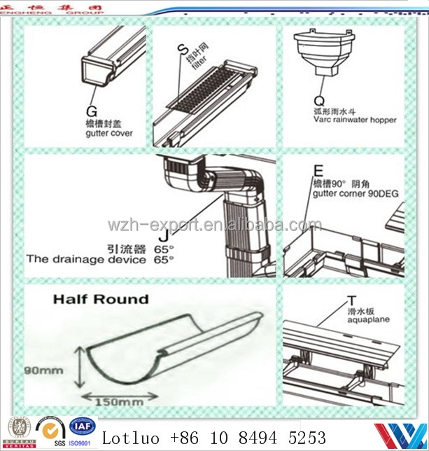 Galvanised rainwater downspout fitting rain collection