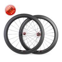 Online Sale 60mm Tubular 1360+/-30g Road Bike Wheels 700C 25mm Wider 1360G Carbon Fiber Wheels/Bicycle Wheels