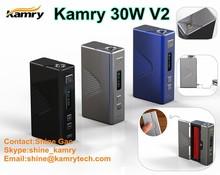 New items 2015! 18650 box mod ecig variable voltage/wattage mods 30watt ecig mod kamry 30 v2