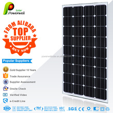 Powerwell Best Price Per Watt Monocrystalline Silicon Solar Panel 100W 200W 300W 12V 24V 48V