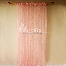 Charming pink office window curtain