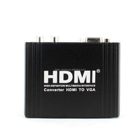 HDMI to VGA+L/R converter Adapter cable Male to Female HDMI vga Cable Converter with Audio Cable for HDTV PC Laptop HD 1080P