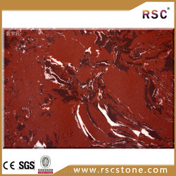 Red artificial marble top
