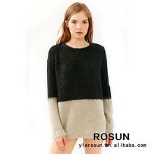 de moda jersey de cuello redondo suéter como suéter de punto para damas
