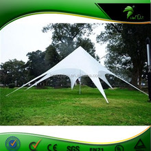 Beautiful Pure White Color Star camping tent,star shade tent for camping or outdoor event