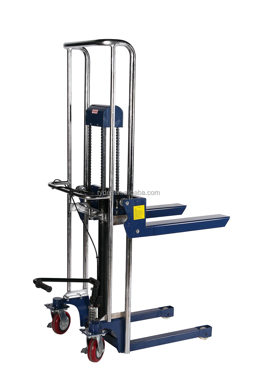 Hydraulic Pallet Lifters : Hydraulic lifter stacker trolley table truck pallet jack