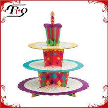 happy birthday treat tiered cake stand