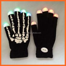 Funny led fingertip rubber print gloves for party Rave Led lighting Glove for Halloween