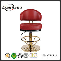 gas lift bar stool golden base and golden foot rest