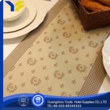 woven new style 100%polyester modern design durable table runner