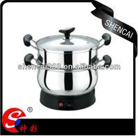 3L,4L,5L,6L Stainless Steel Multipurpose Home Appliance Two Layers Electric Steamer Cooking Pot