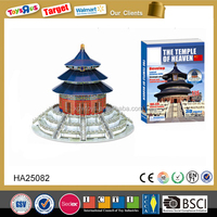 Temple of heaven in China puzzle model,Great Wall 3D puzzle game