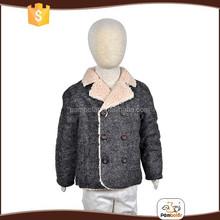 2015 wholesale new kids wool blended double- breasted warm boy winter jacket