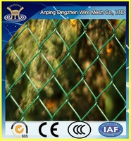 Highly quality Plastic Chain Link Fence of PVC coated Chain Link Fence for Hot Sale