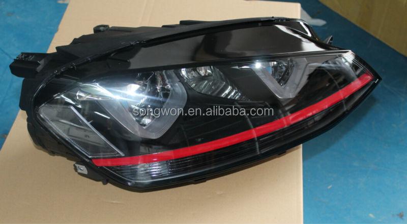 Vw Golf 7 Gti Xenon Headlight With Angel Eye For Mk7 Head