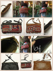 Thai Tribal Leather Handbag