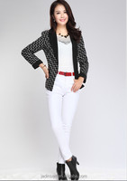 2015 Korean Style Grid pattern simple Suit for ladies