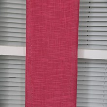 Custom made woven linen looks transparent sheer window curtain in China