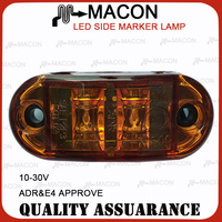 10-30V LED SIDE MARKER LAMP LED Clearance Light E-marked ADR DOT SAE P2 P3 for Car Truck Trailer UTE