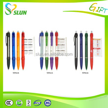 Print logo portable round tube promotional engraved pens