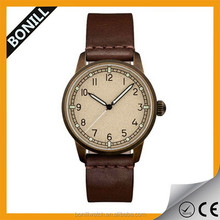 New Relaunching Super Luminous Wrist Watch with Copper Color for pilot