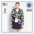 Fábrica de roupas roupas baratas diretos floral padrão de impressão de renda casaco