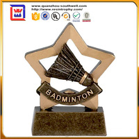 resin badminton shuttlecock trophy and badminton trophy wholesale shuttlecock for sale