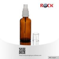 Wholesale 1oz 2oz Travel refill 50 ml amber glass perfume atomizer spray bottle