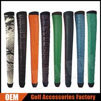 Custom Logo/Design Genuine leather Golf Grips /Wood/Putter Grips