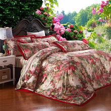 latest designs applique work bed sheet