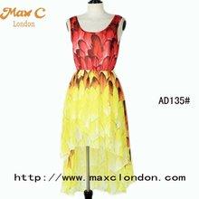 2012 Chic design elegant laides summer chiffon maxi dress