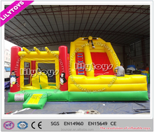 Lilytoys! inflatable zoo park design animal bouncy castle/animal jumping castle for children