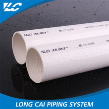 Low flow resistance lower pvc plumbing pipe