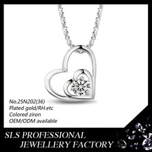 2015 year New Model With High Quality necklace pure silver necklace love necklace for lover
