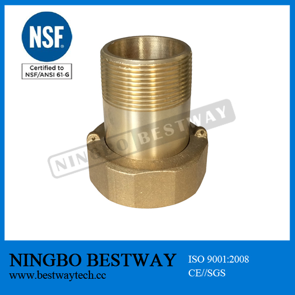 lead free ECO brass water meter coupling NSF APPROVED