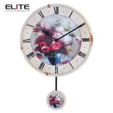 16 inch flower wood pendulum clock
